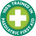 100% Trained In Paediatric First Aid