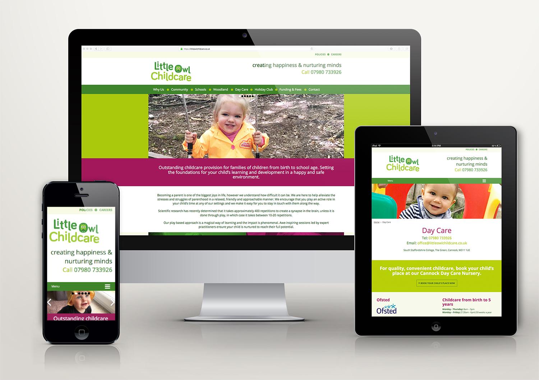 Little Owl Childcare Responsive Website